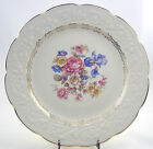 FINE ANTIQUE CHINA DINNER PLATE - EDWIN M. KNOWLES, USA - EMBOSSED FLOWER CHINTZ
