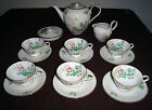 (15 Pcs.) Heinrich China Moss Rose Demitasse Tea Set or Espresso Set for 6