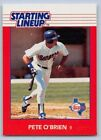 1988  PETE O'BRIEN - Kenner Starting Lineup Card - Texas Rangers - Vintage