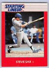 1988  STEVE SAX - Kenner Starting Lineup Card - LOS ANGELES DODGERS