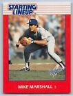 1988  MIKE MARSHALL - Kenner Starting Lineup Card - Los Angeles Dodgers -Vintage