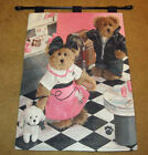 Boyds Bears Dining With Bailey & Friends Tapestry Wall Hanging