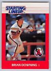1988  BRIAN DOWNING - Kenner Starting Lineup Card - California Angels - Vintage