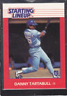1988  DANNY TARTABULL - Kenner Starting Lineup Card - Kansas City Royals