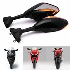 LED Turn Signal Integrated Smoke Mirror For Suzuki Hayabusa Katana GSXR 600 1000