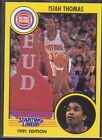 1991  ISIAH THOMAS - Kenner Starting Lineup Card - DETROIT PISTONS