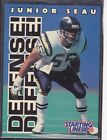 1996  JUNIOR SEAU - Starting Lineup Card - San Diego Chargers