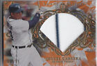 2015 TOPPS TRIBUTE ORANGE GAME USED JERSEY MIGUEL CABRERA TIGERS 58 75