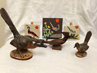 Lot of Roadrunners & Quail Pottery & wooden Figures / Tiles Desert Birds