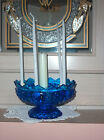 FENTON GLASS COBALT BLUE HOBNAIL CANDLEHOLDER FOR MULTI-SIZED CANDLES Circa 1971