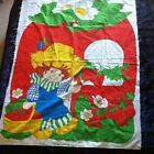 Vtg Strawberry Shortcake HUCKLEBERRY PIE Quilt Fabric Panel Springs Mills 36x46