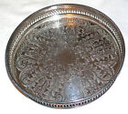 CAVALIER SILVER PLATED CHASED GALLERIED DRINKS VINTAGE TRAY
