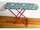 Vintage Toy Ironing Board Fabulous Vintage Fabric Cover Red Metal Folds Up