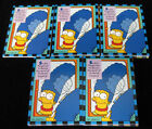 Lot of (5) 1994 Skybox The Simpsons Smell-o-Rama Trading Card Set (10) NM MT