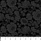 Roses Black Tonal Floral Stratford Northcott Quilt Fabric by the 1 2 yard