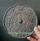 Collectables! Dynasty Old Chinese Bronze mirror Statue 13cm