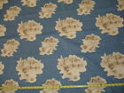 FRENCH COUNTRY BLUE TOILE 1 YD BTY VTG BLOOMCRAFT SCREEN PRINT COTTON FABRIC 55