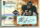 2005 Leaf Limited - MIKE SINGLETARY - Autograph Game Used Jersey - BEARS #d 25
