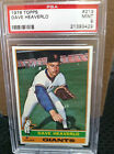 1976 Topps # 213 Dave Heaverlo Rookie PSA Graded MInt 9