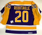 LUC ROBITAILLE LOS ANGELES KINGS SIGNED CCM VINTAGE JERSEY PSA DNA COA X52074