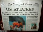 NEW YORK TIMES Newspaper 9 11 01, September 12 Authentic Unread Edition