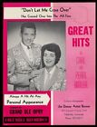 1964 Carl and Pearl Butler photo vintage trade booking ad