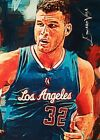 BLAKE GRIFFIN LA CLIPPERS #4 5 SKETCH CARD SIGNED EDWARD VELA ART AUTO ACEO