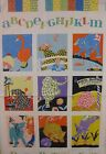 Patchwork Pals Panel Fabric  Red Rooster 22 x 44 green blue purple yellow