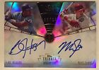 2014 Topps Tribute Mike Trout Bo Jackson Timeless Dual Auto 24 Angels Royals