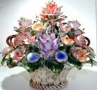 CAPODIMONTE ? Huge Vintage Multicolor Porcelain/Ceramic Floral Center Piece