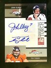 2011 Donruss JOHN ELWAY TIM TEBOW Elite Passing the Torch Autographs #d 13 25