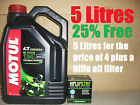 5L LITRE LTR MOTUL 5100 10W40 OIL+AND HF145 FILTER CHANGE TRX850 99 00 1999 2000