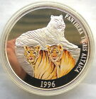 Mongolia 1996 Tiger 5000 Tugrik Colour 5oz Silver Coin,Proof