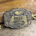 Vintage 1975 Oden Brass Belt Buckle