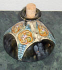 Antique 1905-1910 Austria Amphora Art Nouveau Cork Jug Decanter Cobalt Blue Art