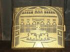 ANTIQUE CIGARETTE CASE GOLD DAMASCENED TOLEDO SPAIN ARABESQUES PALACE FOUNTAIN !