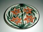 SMF Schramberg Hand Painted Majolica German Brown Flower Salad Plate/s