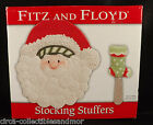 Fitz and Floyd Stocking Stuffers Snack Plate Spreader Christmas Santa Collection