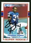 1989 Topps #45 Thurman Thomas autographed rookie card RC signature auto. Bills
