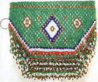 1940's Indian Design Hand Beaded Purse Bag With Handle
