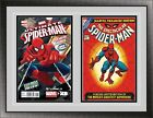 Current Double Comic Book Black Wood Glass Wall Showcase Frame Holder Display UV