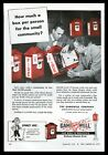 1953 Gamewell fire alarm 5 red box photo vintage trade print ad