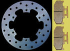 Yamaha DT125RE DT125X rear brake disc & pads 05-08, high grade steel - wavy disc