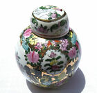 Antique Chinese Porcelain Famille Rose Ginger jar 5x6.5 High