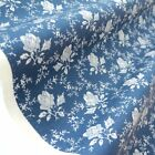 TOILE ROSE - BLUE FLORAL COTTON FABRIC per m FRENCH COUNTRY CHIC fashion