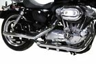 Chrome Slip On Mufflers Slash Cut 2004 2013 Harley Sportster Nightster Iron 48