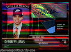 2005-06 Topps DERON WILLIAMS Jazz Draft Day Moments (2 Color) Patch Auto - 54 99