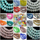 Wholesale Glass Crystal Faceted Rondelle Spacer Loose Beads 3mm 4mm 6mm 8mm