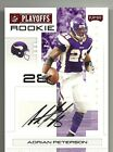 2007 Playoff - ADRIAN PETERSON - Autograph Red Rookie - OKLAHOMA VIKINGS #d07 25