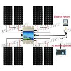 1200Watt Solar System8160W PV solar panel W waterproof 24V grid tie inverter